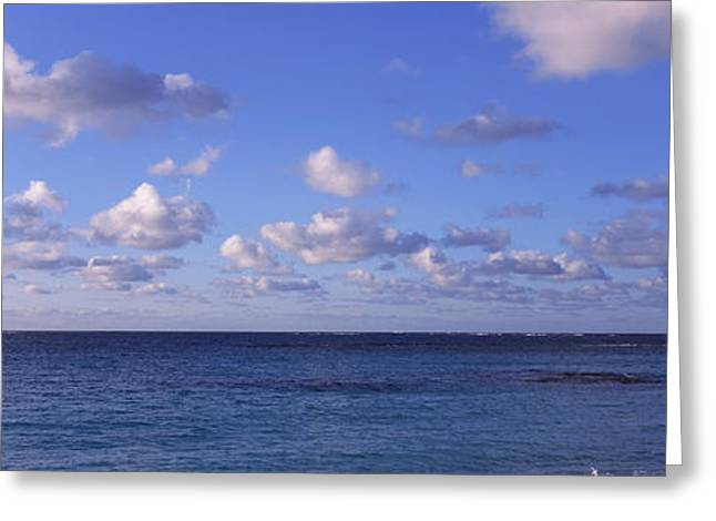 Clouds Over The Sea, Anguilla Greeting Card
