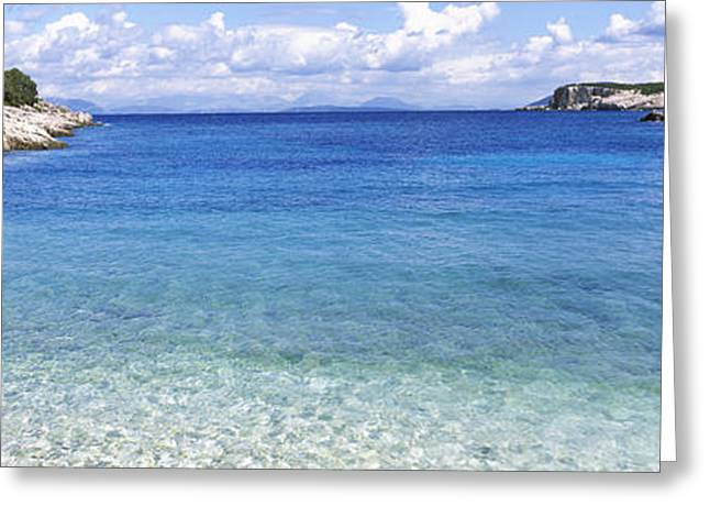 Clouds Over The Sea, Dafnoudi Beach Greeting Card