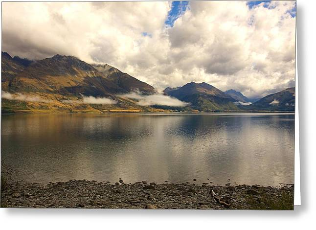 Greeting Card featuring the photograph Clouds Over Wakatipu #1 by Stuart Litoff