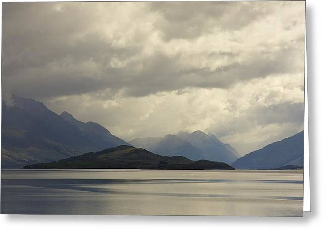 Greeting Card featuring the photograph Clouds Over Wakatipu #2 by Stuart Litoff
