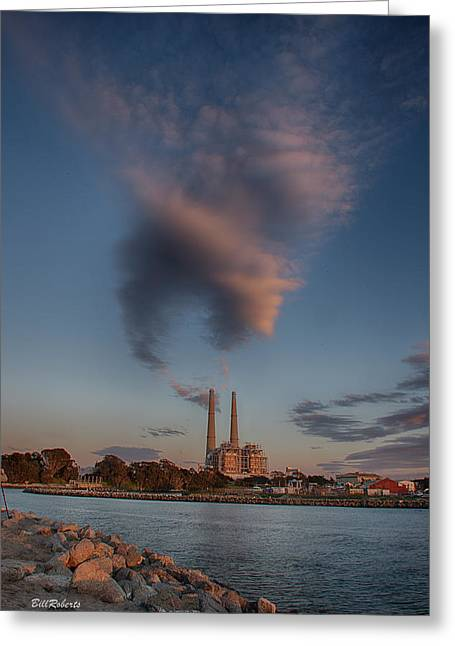 Clouds Over Water Greeting Card by Bill Roberts