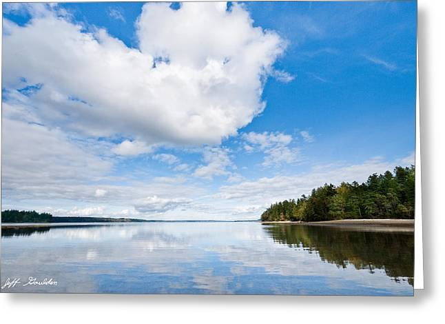 Clouds Reflected In Puget Sound Greeting Card