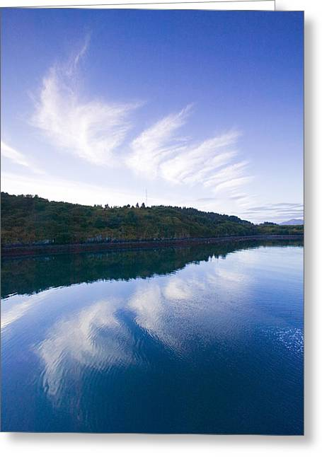 Clouds Reflecting In St.paul Harbor Greeting Card by Kevin Smith