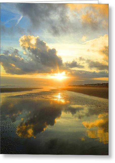 Clouds Reflection By Jan Marvin Greeting Card