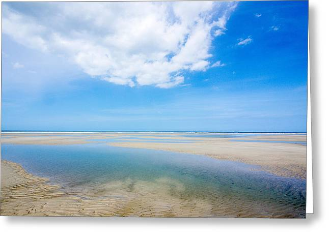 Clouds Sand And Water Greeting Card