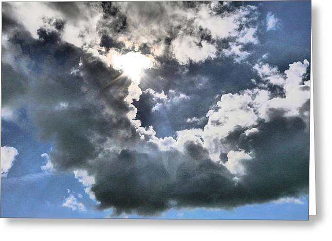 Greeting Card featuring the photograph Clouds by Winifred Butler