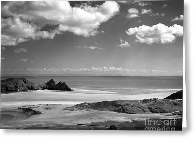 Cloudscape At Three Cliffs Greeting Card
