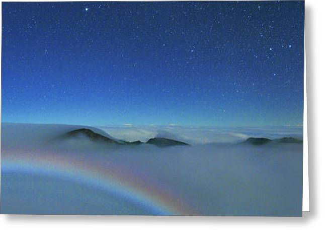 Cloudscape From Haleakala National Park Greeting Card by Walter Pacholka, Astropics