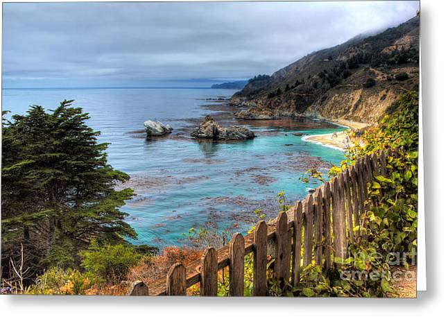 Cloudy Day In Big Sur Greeting Card