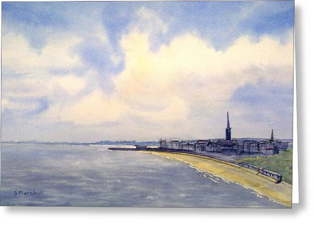 Cloudy Day Over Bridlington Greeting Card