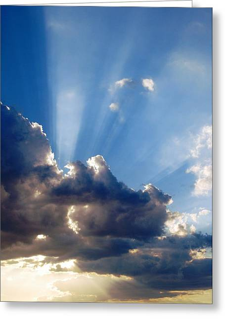 Cloudy Day Rays Greeting Card by Dorothy Berry-Lound