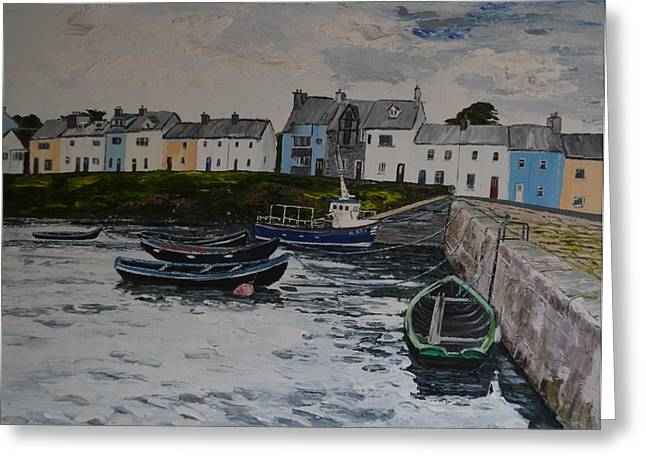 Cloudy Day Roundstone Connemara Greeting Card