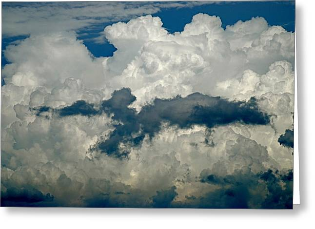 Cloudy Enterprise Greeting Card by Marc Levine