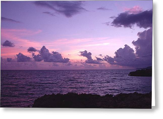 Cloudy Horizon Greeting Card by Marianne Miles