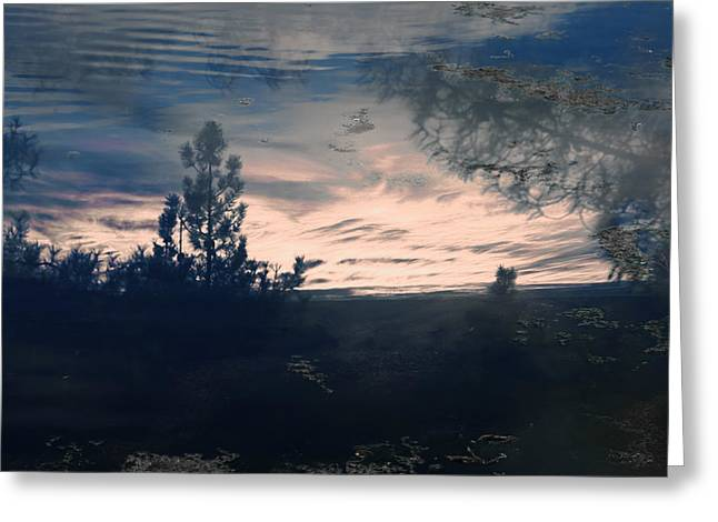 Cloudy Lake Greeting Card by Nicole Swanger