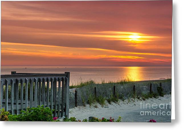 Greeting Card featuring the photograph Sandy Neck Beach Sunrise by Mike Ste Marie