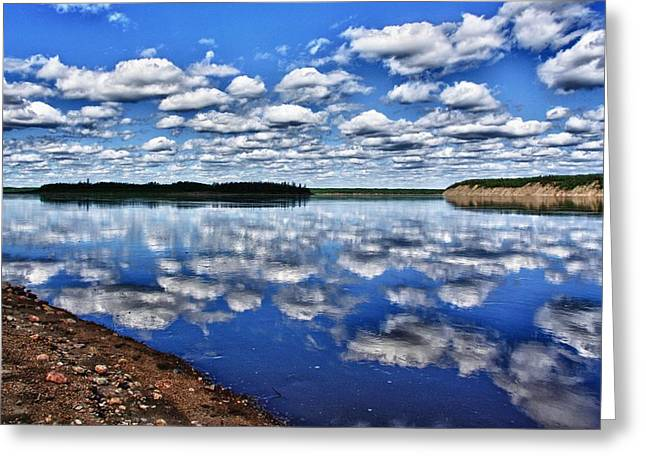 Cloudy Reflection Greeting Card by Scott Holmes