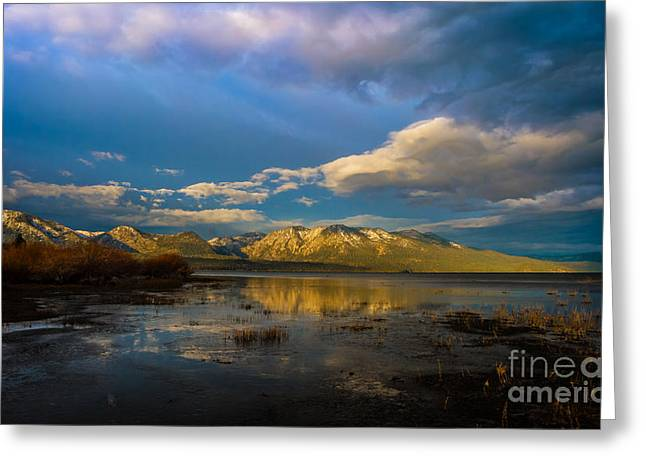 Cloudy Sunrise Greeting Card by Mitch Shindelbower