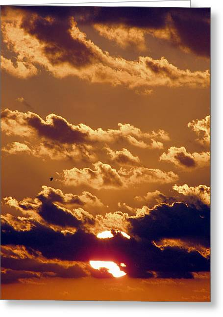 Key West Cloudy Sunset Greeting Card