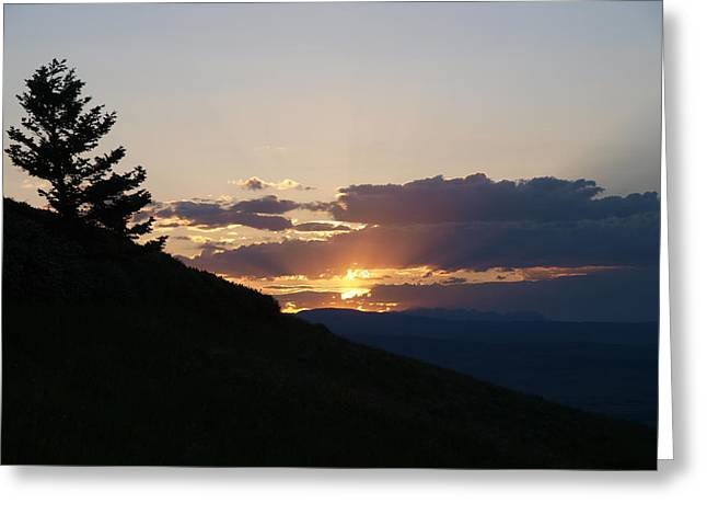 Cloudy Sunset Greeting Card by Jenessa Rahn