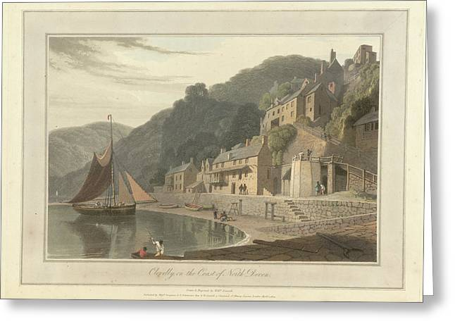 Clovelly Fishing Village And Port Greeting Card