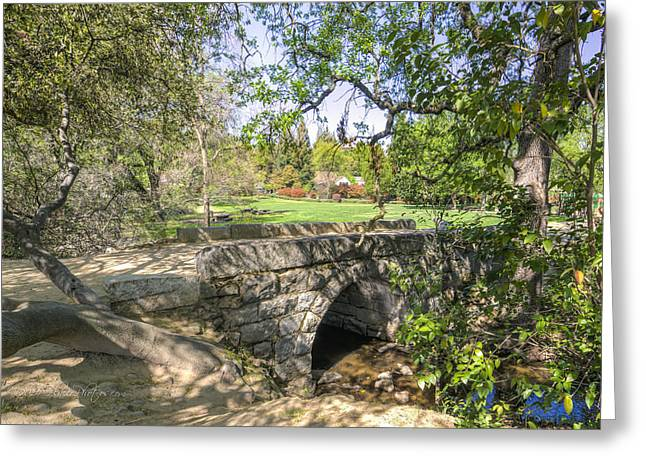Clover Valley Park Bridge Greeting Card