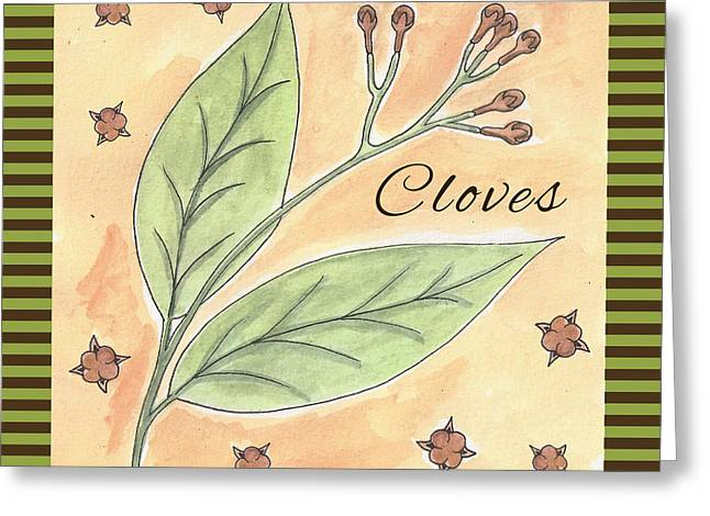 Cloves Garden Art Greeting Card by Christy Beckwith
