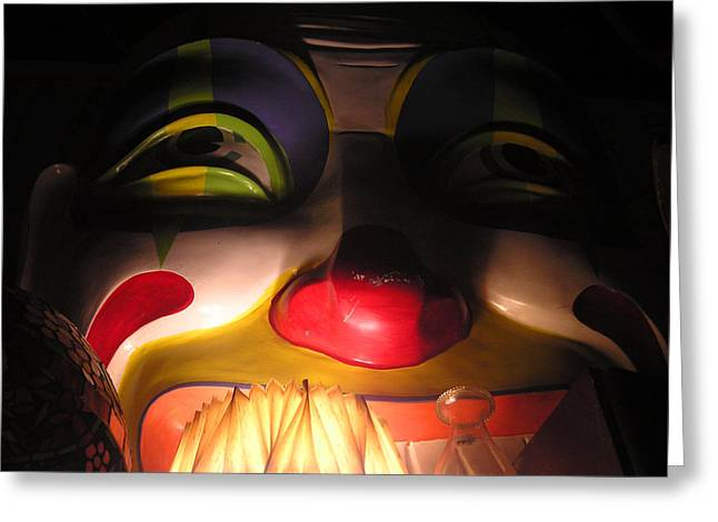 Clown In The Antique Shop Greeting Card