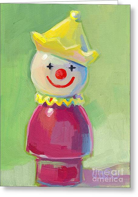 Clown Greeting Card by Kimberly Santini