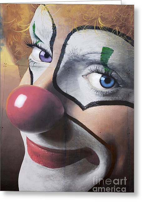 Clown Mural Greeting Card
