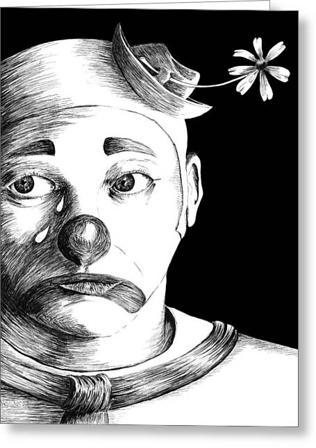 Clown Of Tears Greeting Card