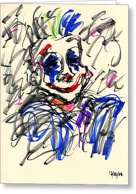 Clown Thug I Greeting Card