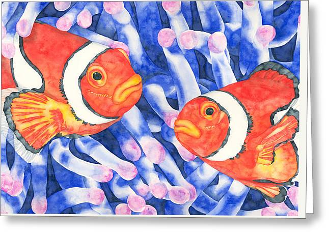 Clownfish Couple Greeting Card
