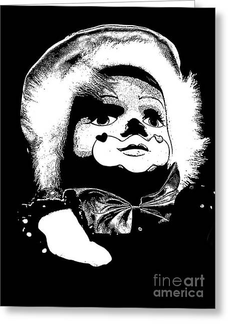 Clowning Around Greeting Card by Linsey Williams