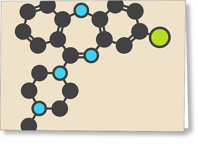 Clozapine Antipsychotic Drug Molecule Greeting Card