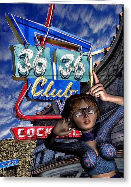 Club 36 Greeting Card