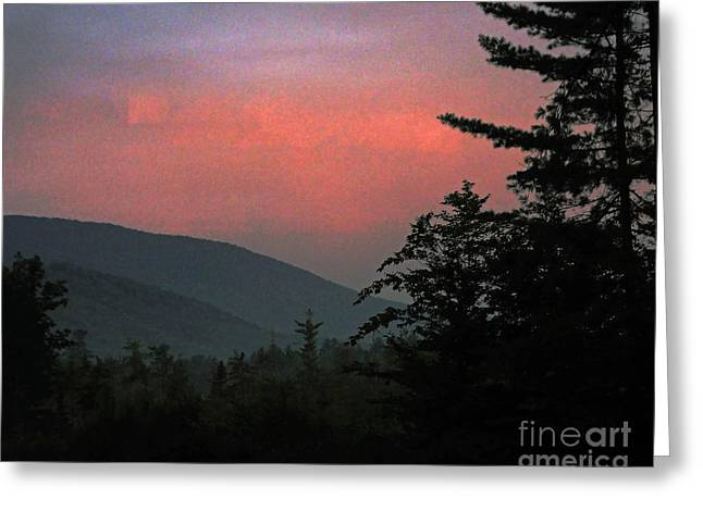 Clucks West Ossipee Mountain Sundown Greeting Card