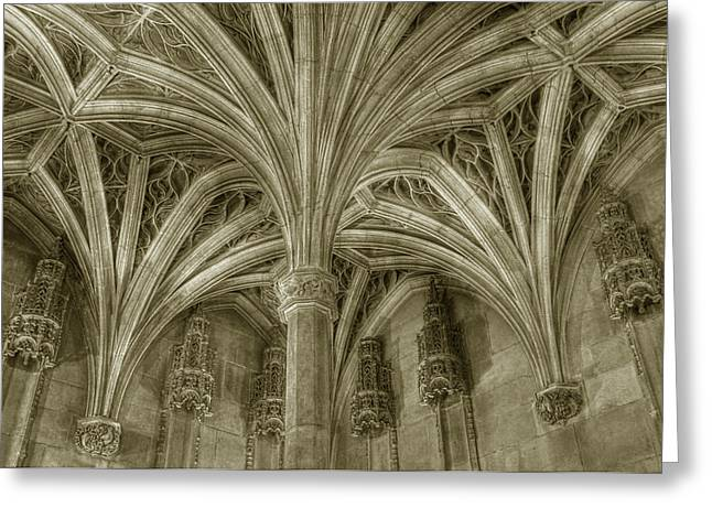 Cluny Museum Ceiling Detail Greeting Card