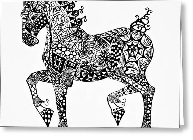 Clydesdale Foal - Zentangle Greeting Card