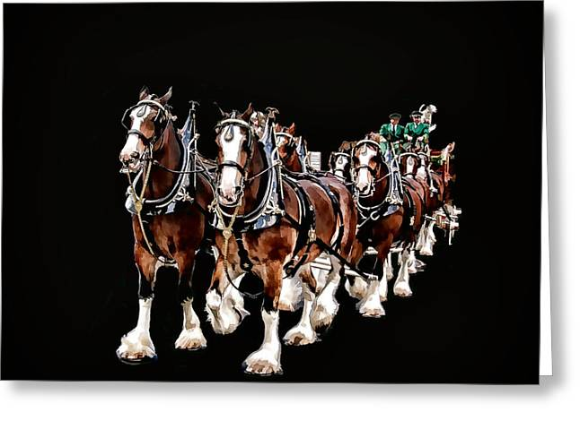 Clydesdales Hitch Greeting Card by Constantine Gregory