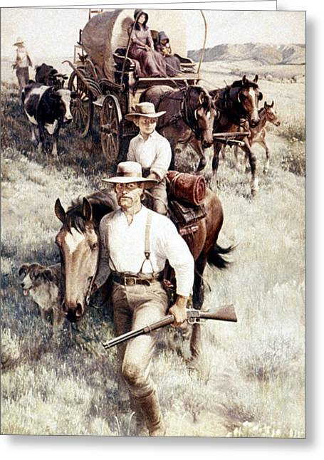 Clymer Homesteaders Greeting Card by Granger