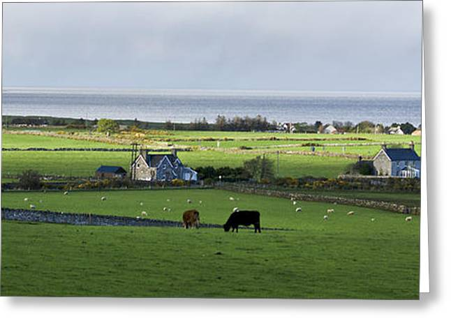 Greeting Card featuring the photograph Clyneview Panorama Scotland by Sally Ross