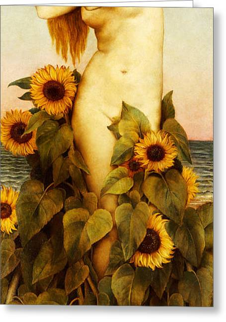 Clytie Greeting Card by Evelyn De Morgan