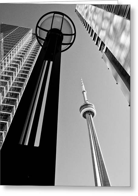 Cn Tower Surrounded Greeting Card