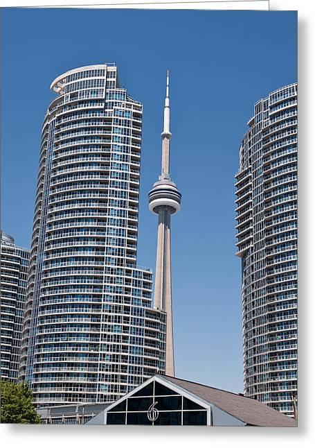 Cn Tower Toronto Greeting Card by Marek Poplawski