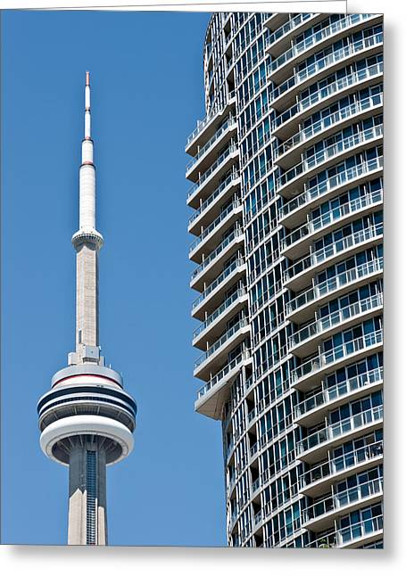 Greeting Card featuring the photograph Cn Tower Toronto Ontario by Marek Poplawski