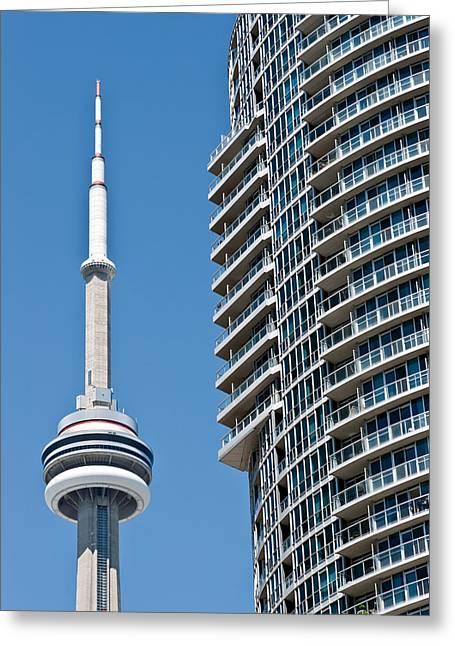 Cn Tower Toronto Ontario Greeting Card by Marek Poplawski