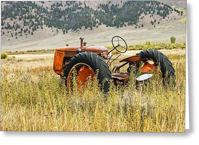 Co Op Tractor Greeting Card