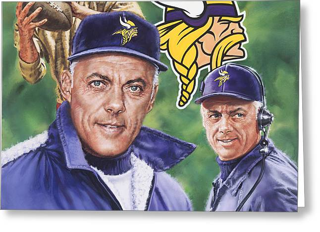Coach Bud Grant Greeting Card