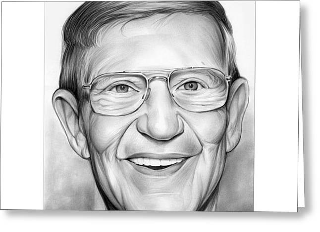 Coach Lou Holtz Greeting Card by Greg Joens